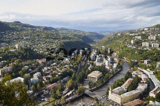 Chiatura, die Seilbahnstadt in Georgien