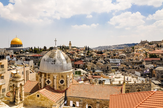 Old City of Jerusalem from Austrian Hospice Roof