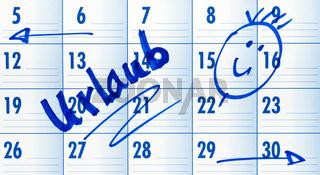 Urlaub - Termin Kalender