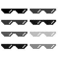 Set of Different Pixel Glasses