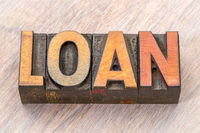 loan word abstract in wood type