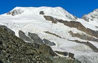 Seilbahnstation Felskinn unter dem Alphubel Gipfel, Saas-Fee, Wallis, Schweiz