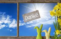 Window, Blue Sky, Danke Means Thank You