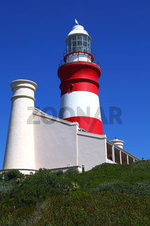Am Kap Agulhas in Südafrika, dem südlichsten Punkt Afrikas, at Cape Agulhas in South Africa, the most southern point in Africa