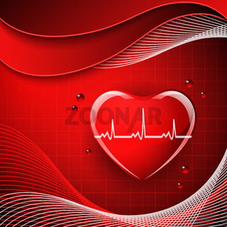 Heart shape on the abstract colorful background.