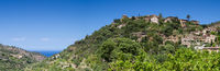 Panorama of the hilltop village of Deia
