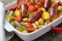 Chorezo Würste mit Gemüse