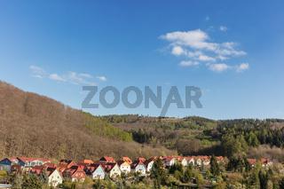 Reihe Einfamilienhäuser in Wernigerode
