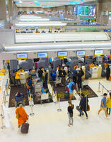 Don Mueang airport check-in, Thailand