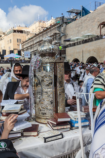 The Torah Roll in magnificent case