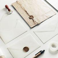 Blank vintage envelopes