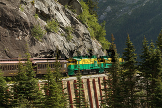 Scenic Railroad on White Pass and Yukon Route in Skagway Alaska