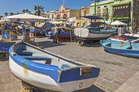 Fishing Boats Out Of The Water,Marsaxlokk Village, Malta