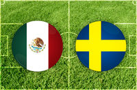 Mexico vs Sweden football match