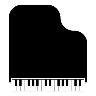 Grand piano icon black color illustration flat style simple image