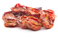 Tasty dried tomatoes .