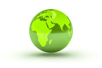 green globe sphere