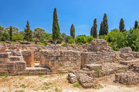Ruins of ancient town Gortyna on Crete, Greece