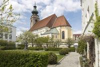 Historische Stadtkirche in Mühldorf am Inn, Bayern