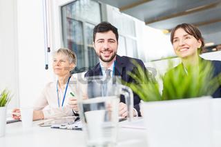 Business Kollegen in einem Workshop