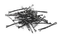 Group of black metal  hairpins