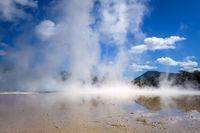Steaming lake in Waiotapu, Rotorua, New Zealand