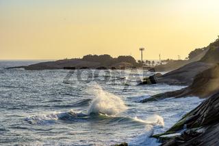 Devil's beach at sunset