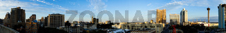 San Antonio Skyline Wide Panoramic South Cantral Texas
