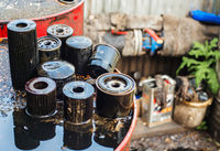 Used oil filters for low depth of field