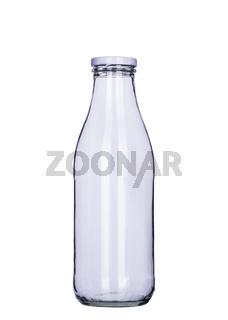 Leere Milch Flasche mit Beschneidungpfad, clipping path