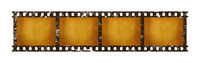 Old vintage retro 35 mm film strip frames