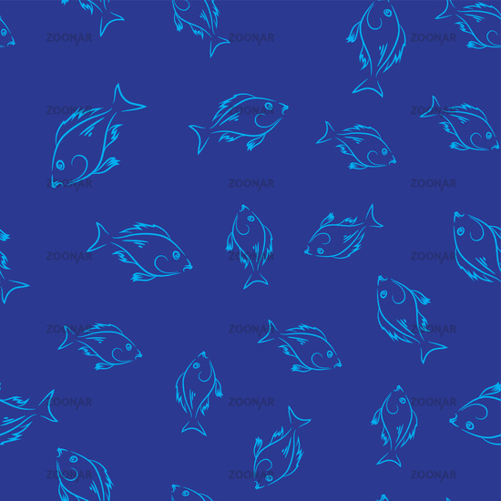 Fresh Fish Seamless Pattern