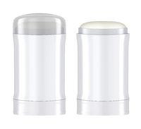 Antiperspirant sticks on white background