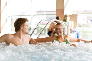 Swimming pool - couple relax in hot tub