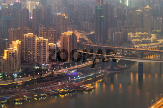 Chongqing city night landscape