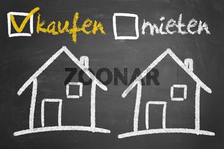 Haus kaufen oder mieten