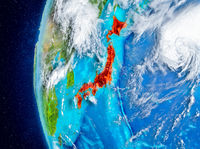 Japan on Earth from space