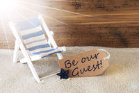 Summer Sunny Label And Text Be Our Guest
