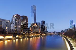 Melbourne Australia on the Yarra River Twilight