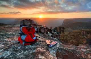 Exploring Australia - Sunset Blue Mountains