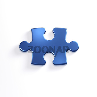 Puzzle Piece of Jigsaw. 3D Render Illustration