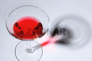 Cosmopolitan - Cocktailglas mit Schatten