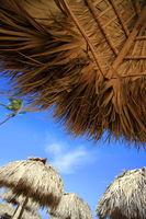 Straw umbrella on Bavaro Beach