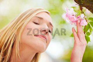 Entspannung durch Blütenduft