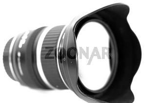 Weitwinkel - Objektiv schwarz und weiß