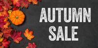 Autumn sale written on a blackboard