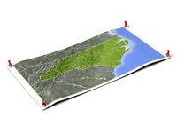 North Carolina on unfolded map sheet.