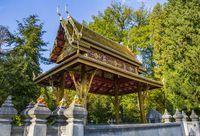 Thai-Sala im Kurpark von Bad Homburg vor der Höhe, Deutschland