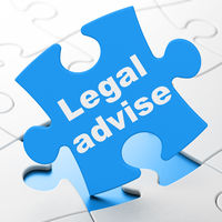 Law concept: Legal Advise on puzzle background