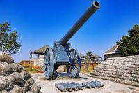 Kanonen namens Long Tom auf dem Long Tom Pass, Südafrika, cannons at Long Tom Pass, South Africa